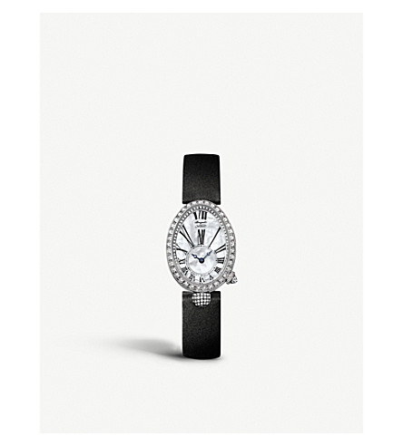 BREGUET 8928BB/51/844/DD0D Reine de Naples 18ct rose-gold, mother-of-pearl and diamond watch