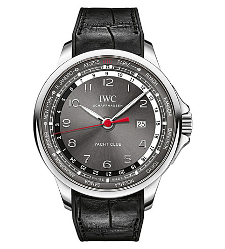 IWC SCHAFFHAUSEN IW326602 Portugeiser stainless steel automatic leather strap watch