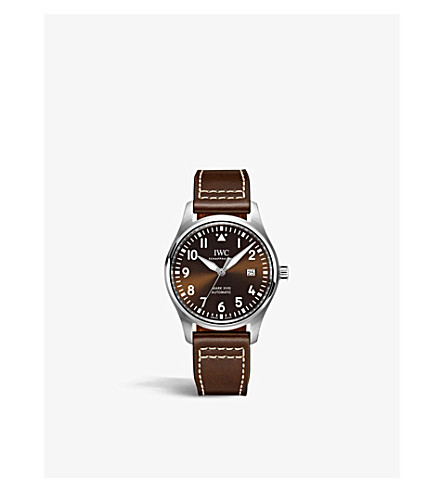 JAEGER LE COULTRE IW327003 Pilots Mark XVIII Edition stainless steel and leather watch