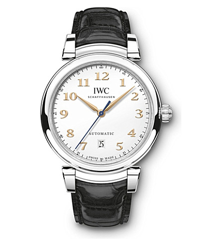 IWC SCHAFFHAUSEN IW356601 Da Vinci stainless steel and leather automatic watch