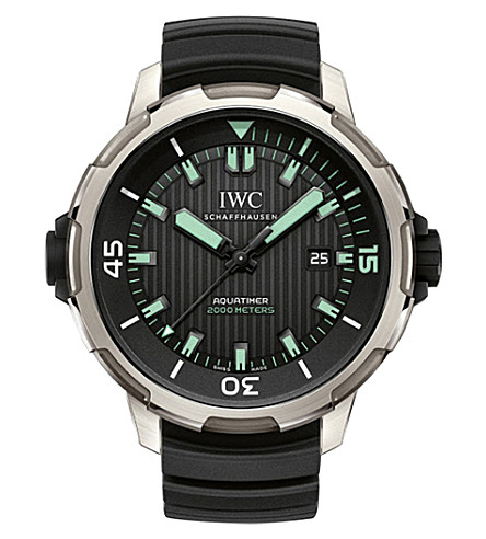 IWC SCHAFFHAUSEN IW358002 Aquatimer 2000 stainless steel automatic rubber strap watch