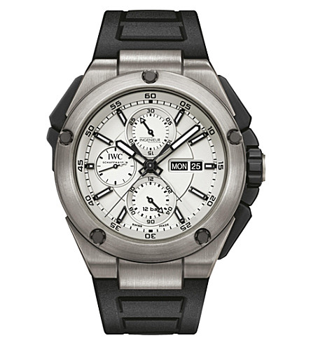 IWC SCHAFFHAUSEN IW386501 Ingenieur rubber and titanium watch