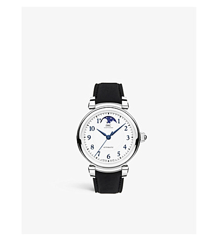 IWC SCHAFFHAUSEN IW459306 Da Vinci Automatic Moon Phase 36 stainless steel and leather watch