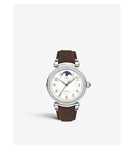 IWC SCHAFFHAUSEN IW459307 Da Vinci Automatic Moon phase 36 stainless steel and leather watch