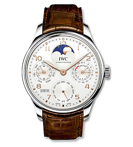 IWC SCHAFFHAUSEN IW503302 Portugieser white gold and alligator leather watch