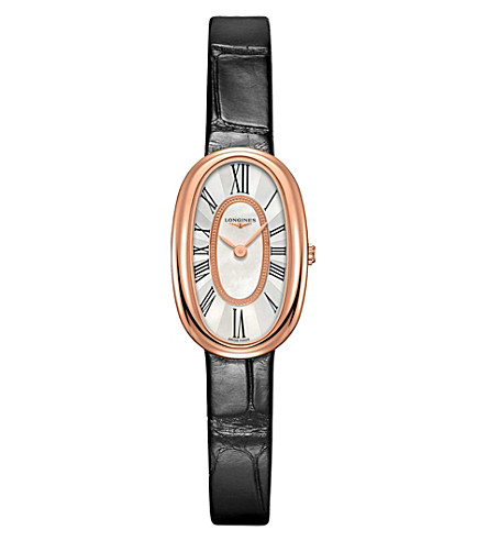 LONGINES L2.305.9.81.0 Symphonette 18ct pink gold and diamond watch