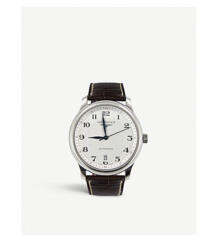 LONGINES L2.628.4.78.3 主不锈钢和皮革手表