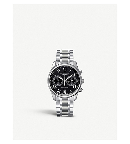 LONGINES L2.629.4.51.6 Master Collection stainless steel chronograph watch
