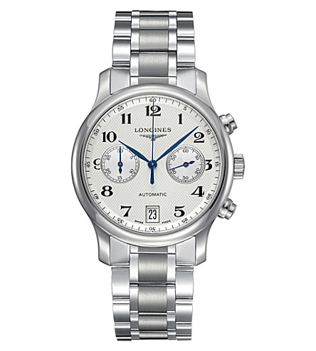 LONGINES L2.669.4.78.6 Master Collection stainless steel chronograph watch