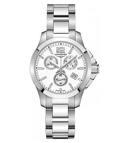 LONGINES L33794166 Conquest stainless steel quartz movement watch