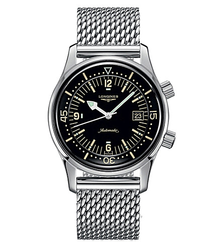 LONGINES Legend Driver stainless steel watch