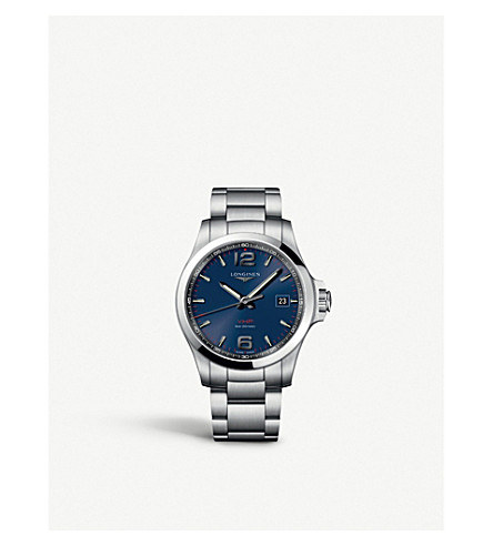 LONGINES L37264966 Conquest stainless steel watch