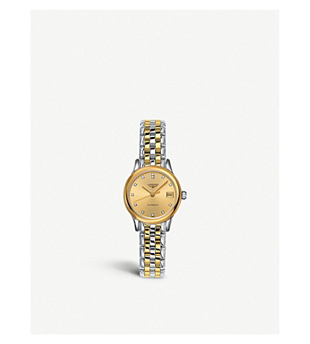LONGINES L4.274.3.37.7 Flagship diamond and gold watch