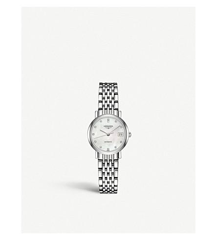 LONGINES L4.309.4.87.6 精美系列珍珠母和不锈钢手表 (母 + 珍珠
