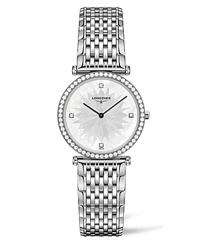 LONGINES L4.513.0.25.6 La Grande Classique diamond and stainless steel watch