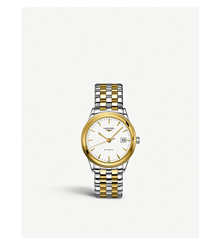 LONGINES L4.874.3.22.7 Flagship collection yellow gold and stainless steel watch