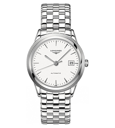 LONGINES L4.874.4.12.6 flagship collection stainless steel watch