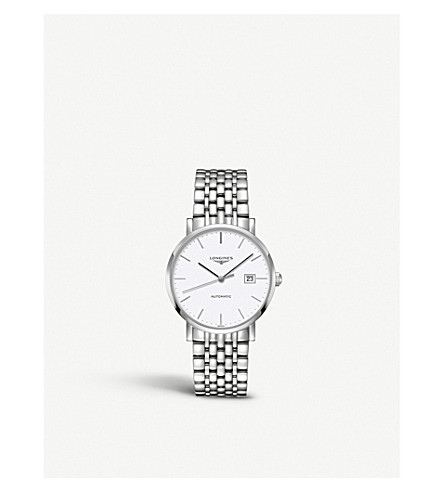 LONGINES L4.910.4.12.6 Elegant stainless steel watch