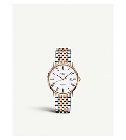 LONGINES L4.910.5.11.7 Elegant rose gold and stainless steel watch