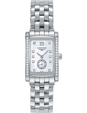LONGINES L5.155.0.84.6 Dolcevita stainless steel mother-of-pearl diamond watch