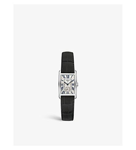 LONGINES L5.255.4.71.3 Dolcevita 不锈钢和鳄鱼 Dolcevita 手表