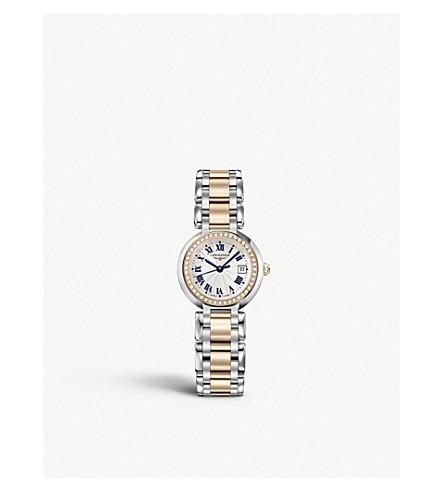 LONGINES L8.110.5.79.6 Primaluna 18ct rose gold stainless steel diamond watch