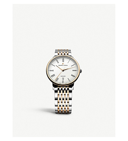 MAURICE LACROIX LC6067-PS103-110 Classiques 18ct 玫瑰黄金和不锈钢双色调自动手表