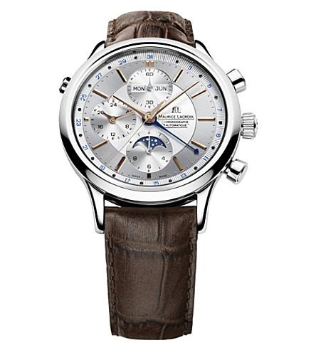 MAURICE LACROIX Lc6078-ss001-131 Les Classiques Chronographe Phases De Lune watch