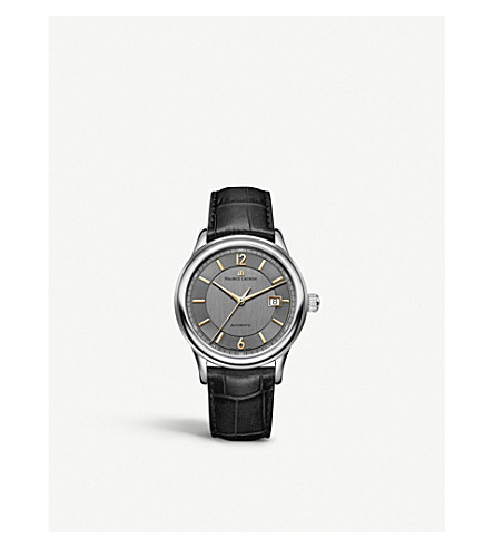 MAURICE LACROIX LC6098-SS001-320 Les Classiques 18ct stainless steel and leather automatic watch