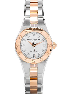 BAUME & MERCIER M0a10114 Linea stainless steel and diamond watch