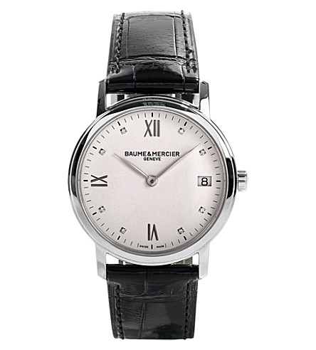 BAUME & MERCIER M0a10146 Classima stainless steel and diamond watch (White