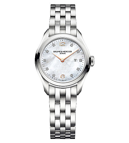 BAUME & MERCIER M0a10176 Clifton diamond-encrusted watch
