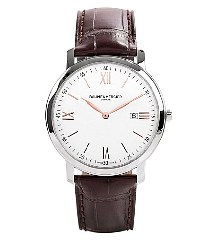 BAUME & MERCIER M0a10181 promesse stainless steel watch (White