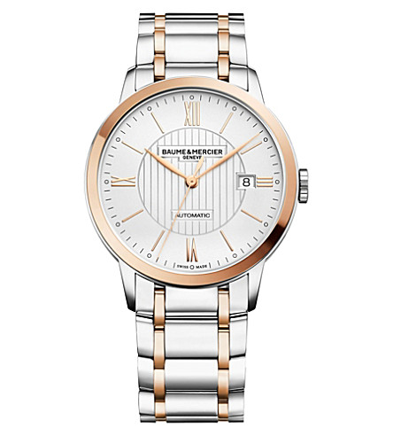 BAUME & MERCIER M0A10217 Classima stainless steel and gold-toned watch (Silver