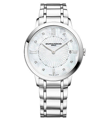 BAUME & MERCIER Classima 10225 stainless steel watch (Mother-of-pearl
