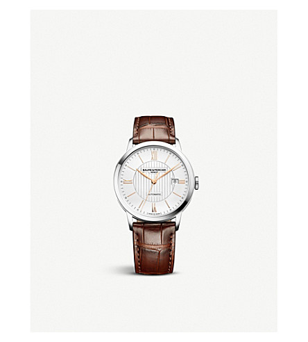 BAUME & MERCIER 10263 Classima alligator-leather watch