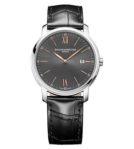 BAUME & MERCIER 10266 Classima alligator-leather watch