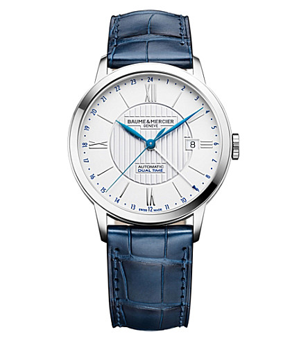 BAUME & MERCIER 10272 Classima alligator-leather watch