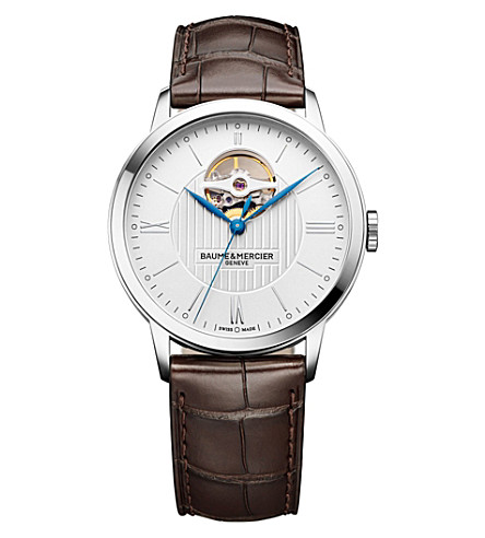 BAUME & MERCIER 10274 Classima alligator-leather watch