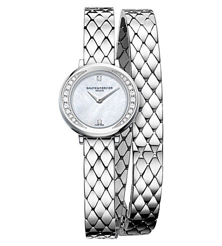 BAUME & MERCIER 10289 Petite Promesse steel and diamond watch