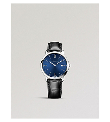 BAUME & MERCIER M0A10324 Classima stainless steel and leather watch