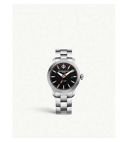 BAUME & MERCIER Clifton stainless steel watch