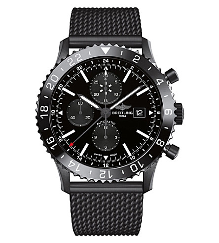 BREITLING M2431013/BF02/267S/M20SS.1 Chronoliner black steel watch