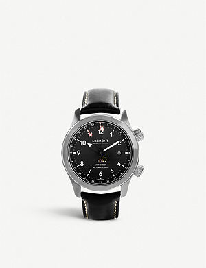 BREMONT MB111/bz Martin Baker stainless steel adn leather watch