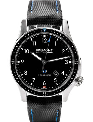 BREMONT 1/BK/SS Boeing stainless steel automatic watch