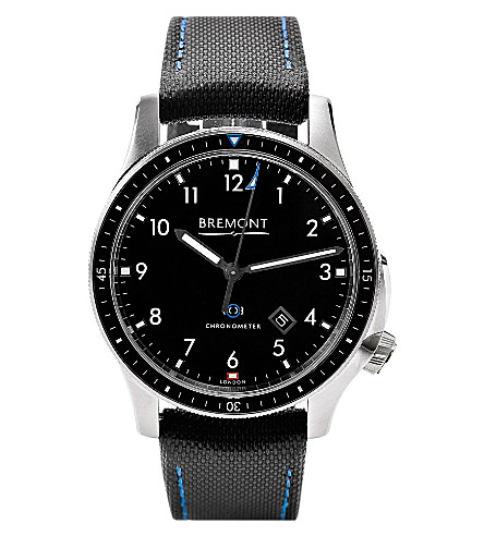 BREMONT BB1-SS/BK Boeing stainless steel automatic watch