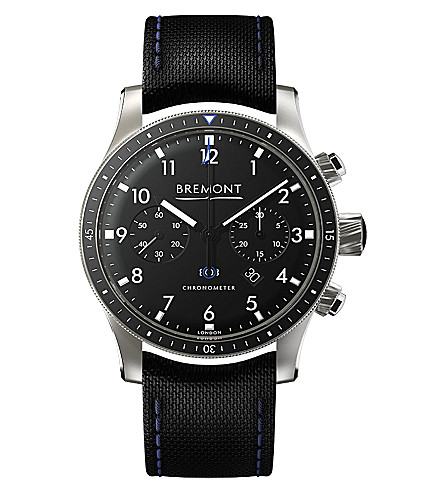 BREMONT BB247-SS/BK Boeing stainless steel automatic watch