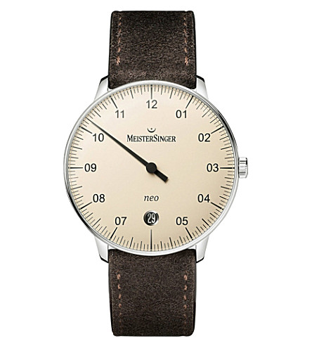 MEISTERSINGER Ne903n neo stainless steel watch (Cream