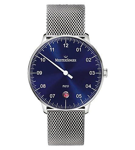MEISTERSINGER NE908NMLN18 Neo stainless steel watch (Blue