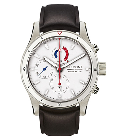 BREMONT OTUSA Regatta limited edition titanium and leather watch